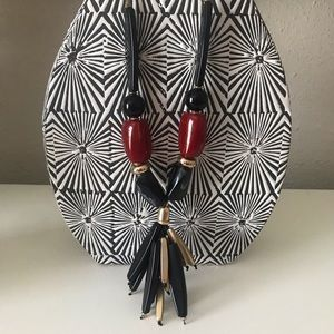 Unique Black and Red Statement Necklace